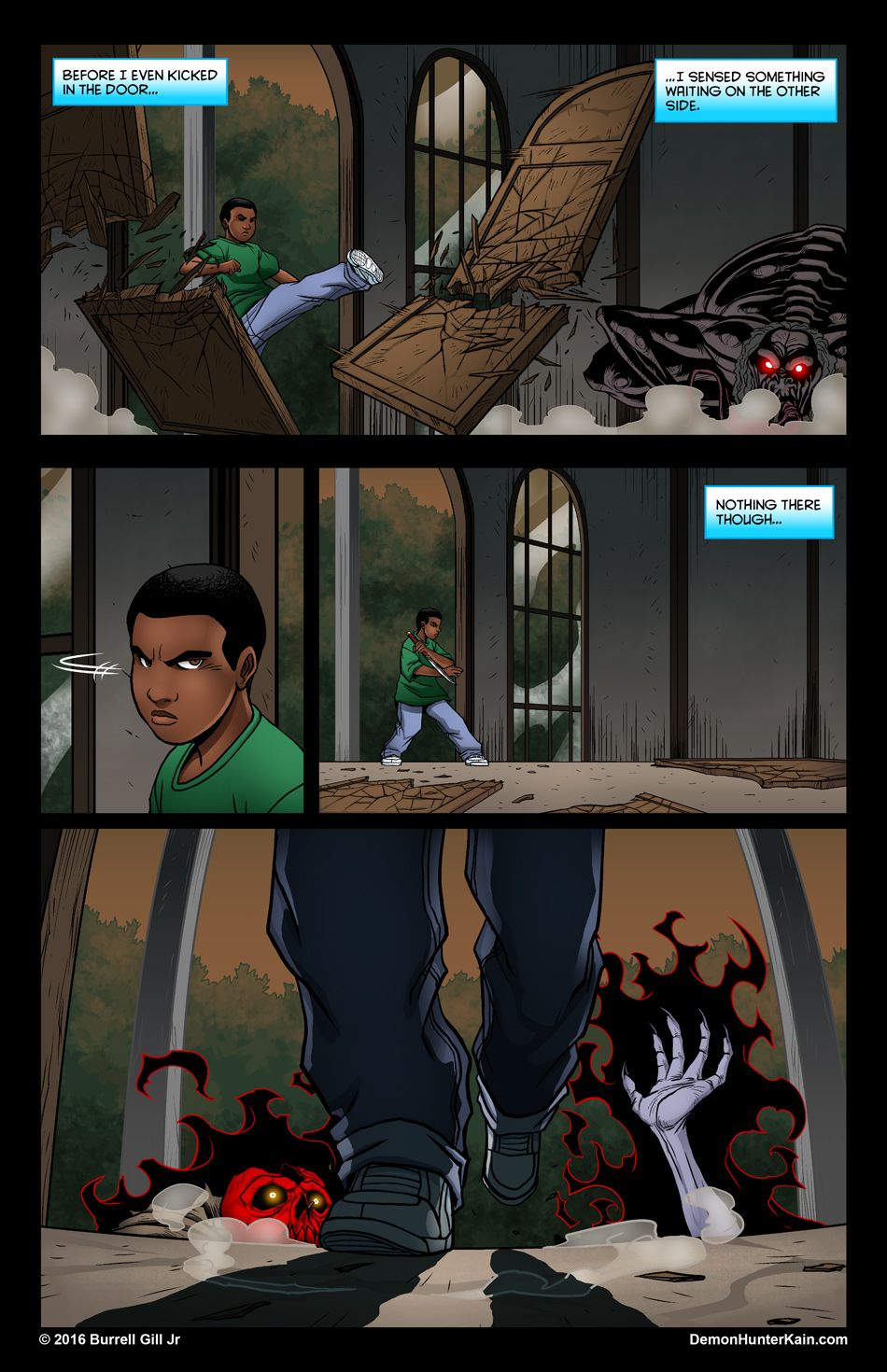 Demon Hunter Kain Chapter 6: The Boy Called Kain, Page 46.