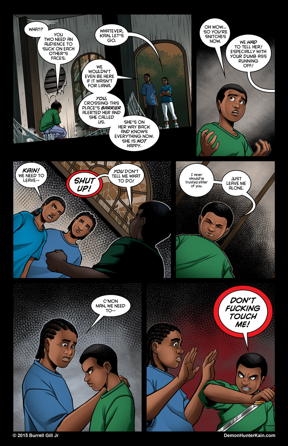 Demon Hunter Kain Chapter 6: The Boy Called Kain, Page 49.