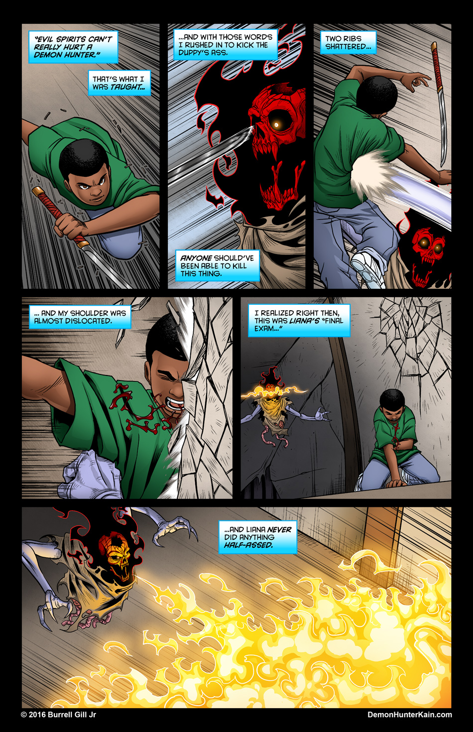 Demon Hunter Kain Chapter 6: The Boy Called Kain, Page 51.