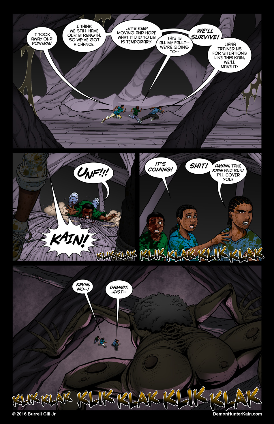 Demon Hunter Kain Chapter 6: The Boy Called Kain, Page 66.