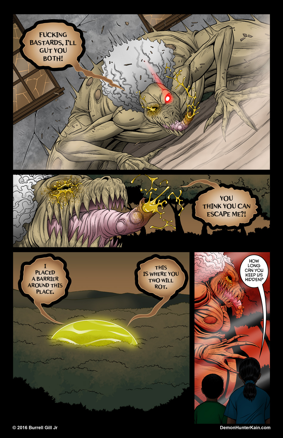 Demon Hunter Kain Chapter 6: The Boy Called Kain, Page 73.
