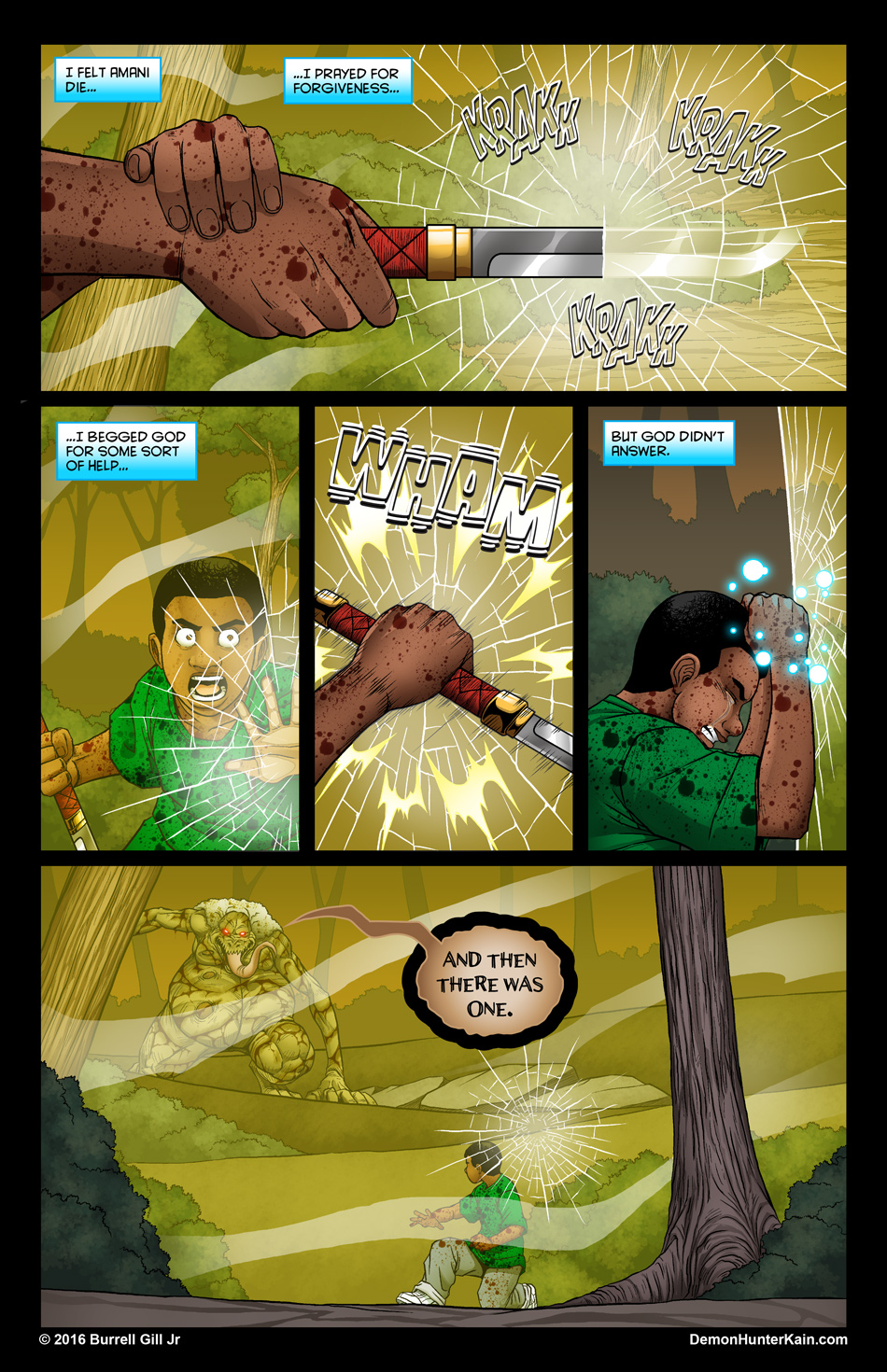 Demon Hunter Kain Chapter 6: The Boy Called Kain, Page 78.