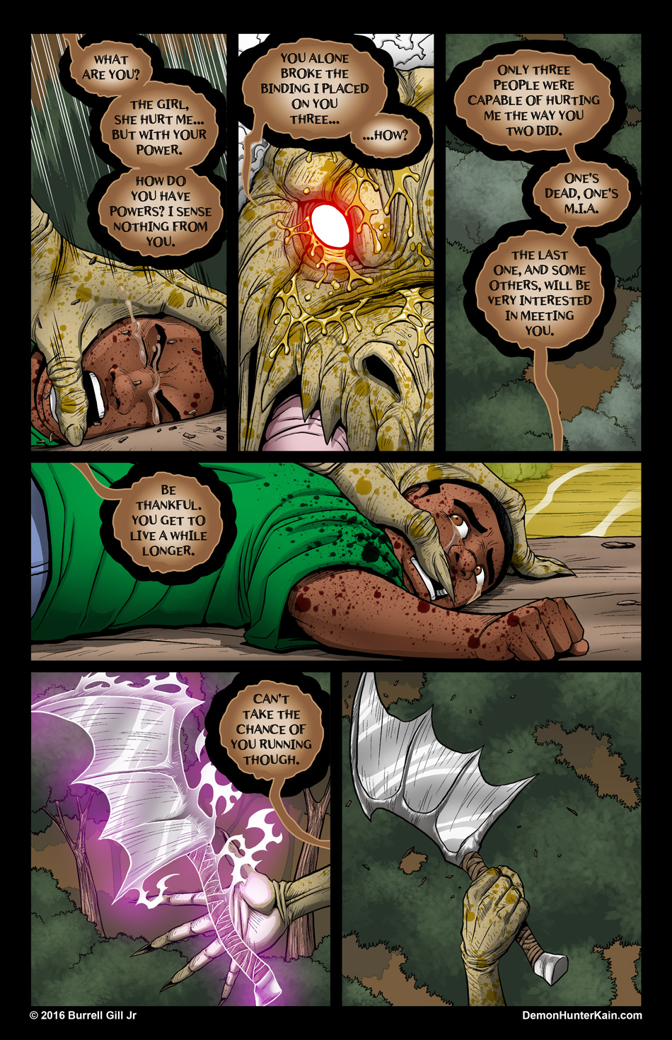 Demon Hunter Kain Chapter 6: The Boy Called Kain, Page 79.