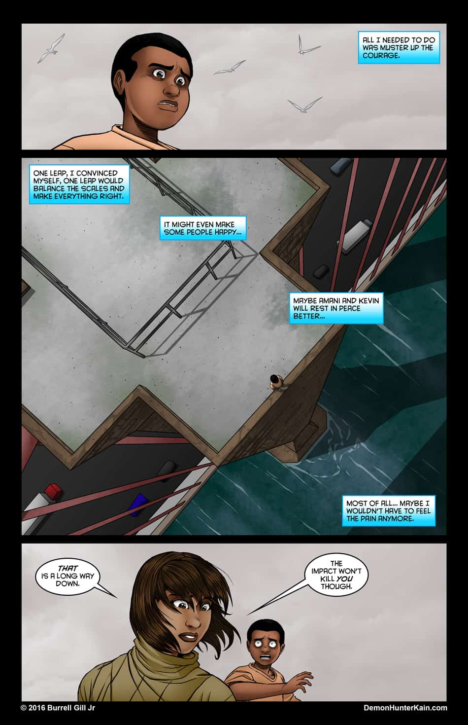 Demon Hunter Kain Chapter 6: The Boy Called Kain, Page 84.